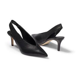 M Gemi The Atto Pumps Black Leather size 37/US 7